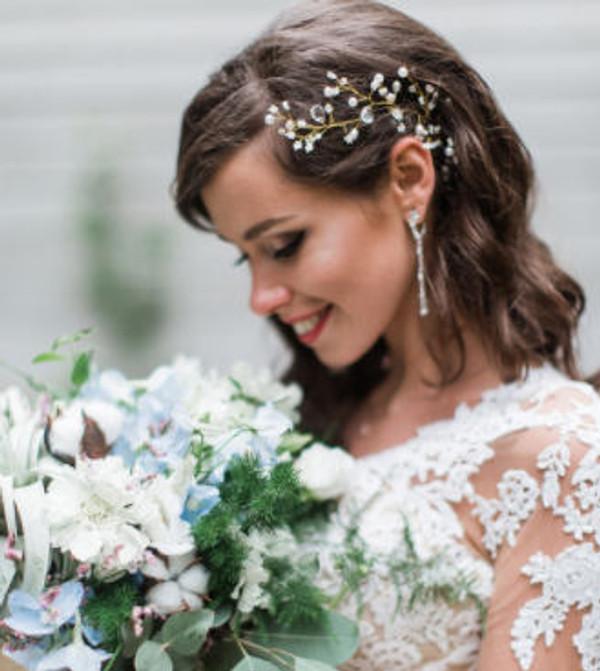Gold Bridal Hair Vine