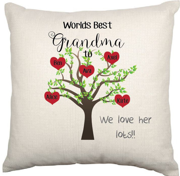 Personalised Cushion Cover (Grandma)