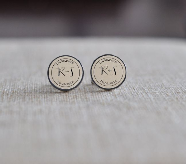 Personalised Initial Cuff Links - Stainless Steel