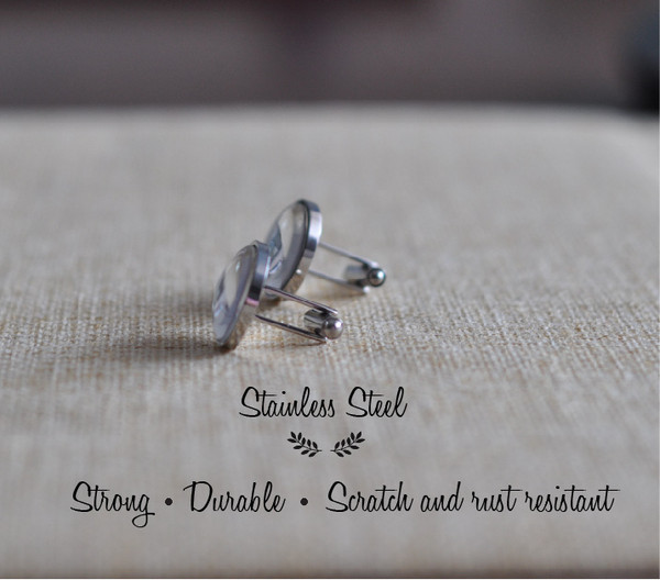 Personalised Daddy Cuff Links - Stainless Steel