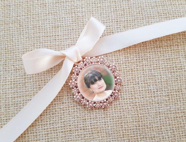 Rose Gold Charm - photo size 2cm