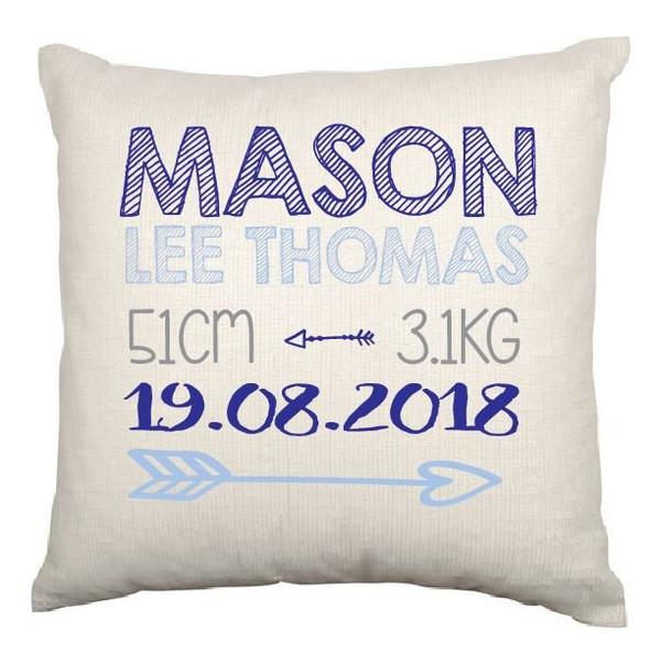 Personalised Nursery Cushion Cover (Mason design)