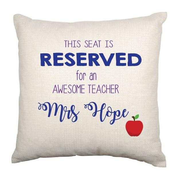 Personalised Best Teacher Cushion Cover (Cecilia design)