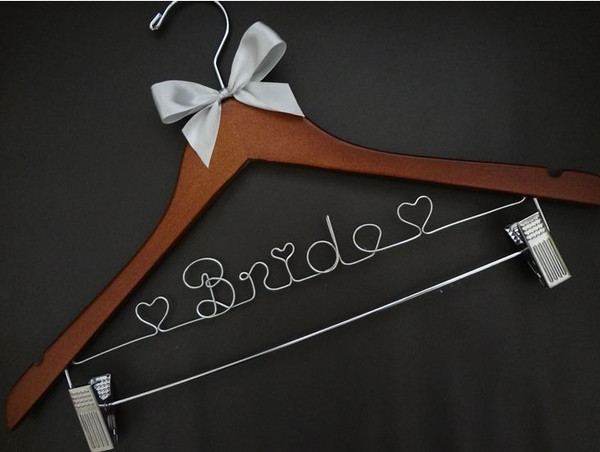 Adult hanger with clips with silver bow