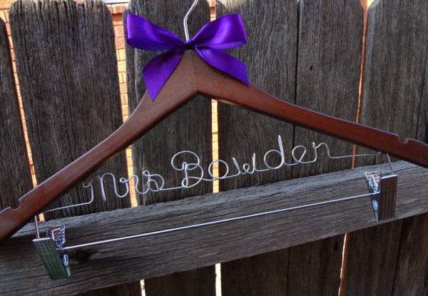 Personalised Adult Hanger with Clips