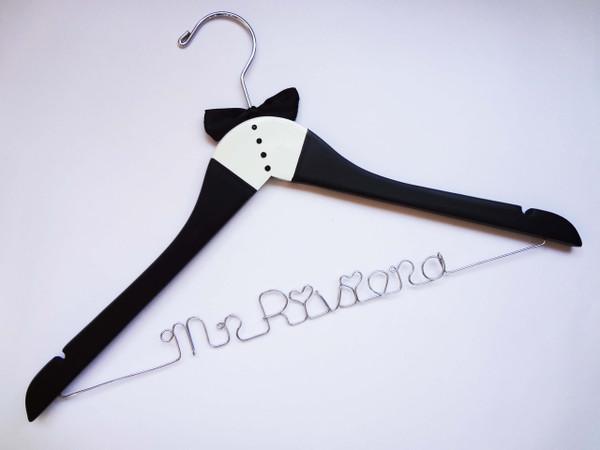 Personalised Adult Tuxedo hanger