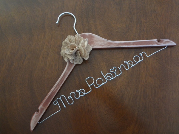 Personalised Adult Rustic Hanger