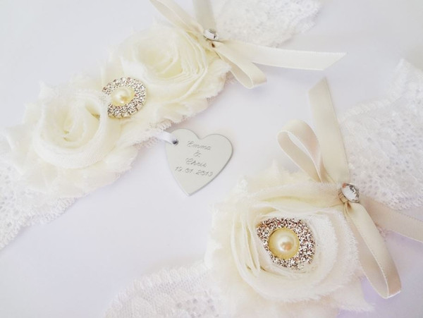Personalised Garter set - Mischa design