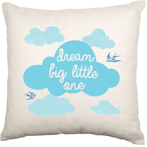 Personalised Baby Cushion Cover (Blue Cloud)