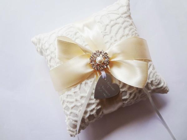 Personalised Ring Pillow - Jemina design
