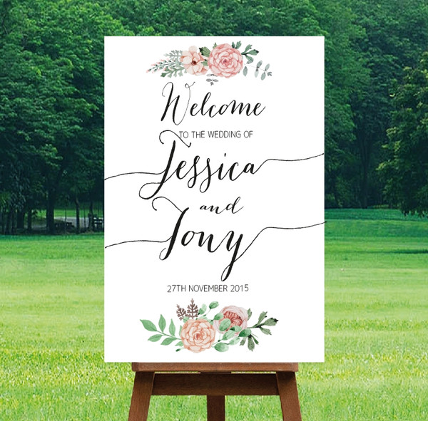"Printable Wedding Sign - ""Bella"" Design"