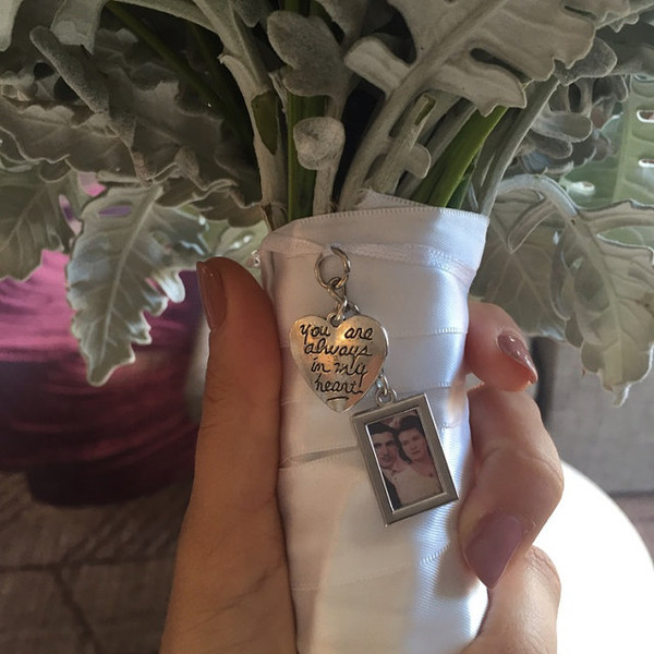 """Bouquet Charm - DIY - w/ """"you are always in my heart"""" charm"""
