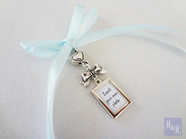 Bouquet Charm - Double Sided DIY - w/ bow
