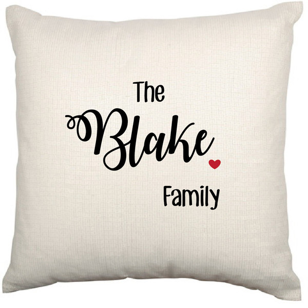 Personalised Cushion Cover (Heart)