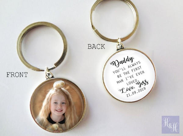 Keyring - Double sided (Father/Mother of the Bride) - Mikki Design