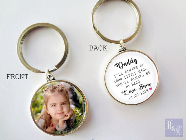 Keyring - Double sided (Father/Mother of the Bride) - Mandy Design