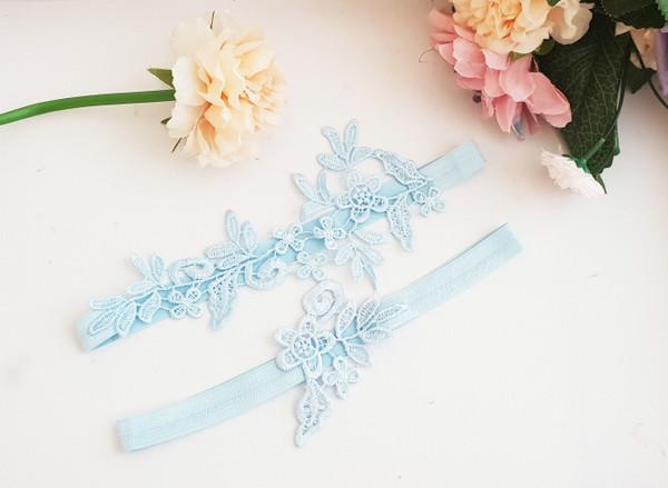 Elegant Baby Blue garter set - Babylon Design