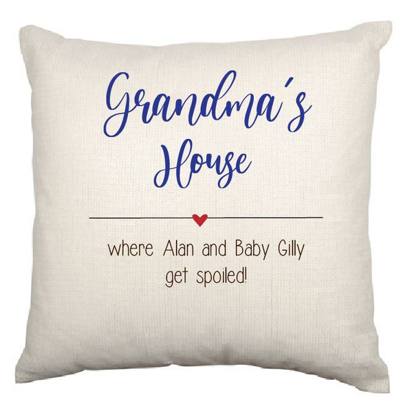 Grandma/ Grandpa Cushion Cover (Lily Design)