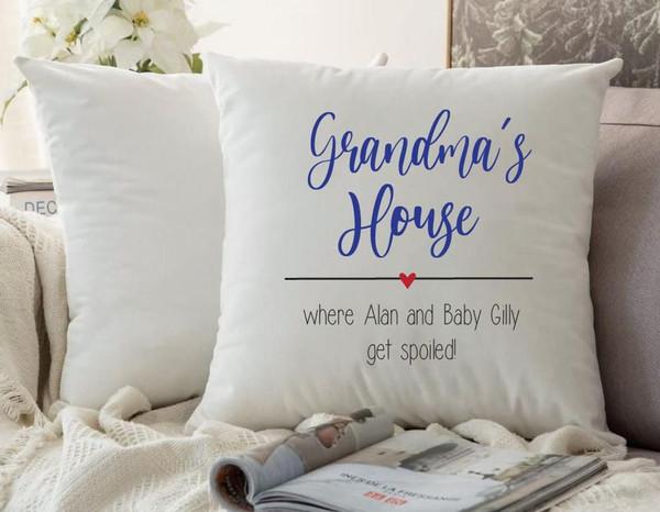 Grandma/ Grandpa Cushion Cover (Lily Design)