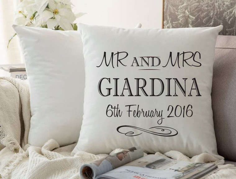 Personalised Couples Cushion Cover (Script2)