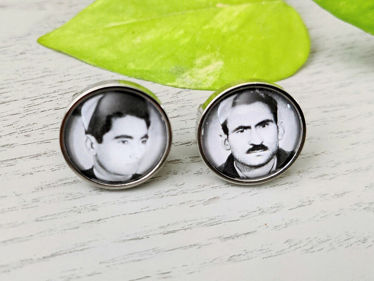 Personalised Photo/Text Cuff Links - Stainless Steel