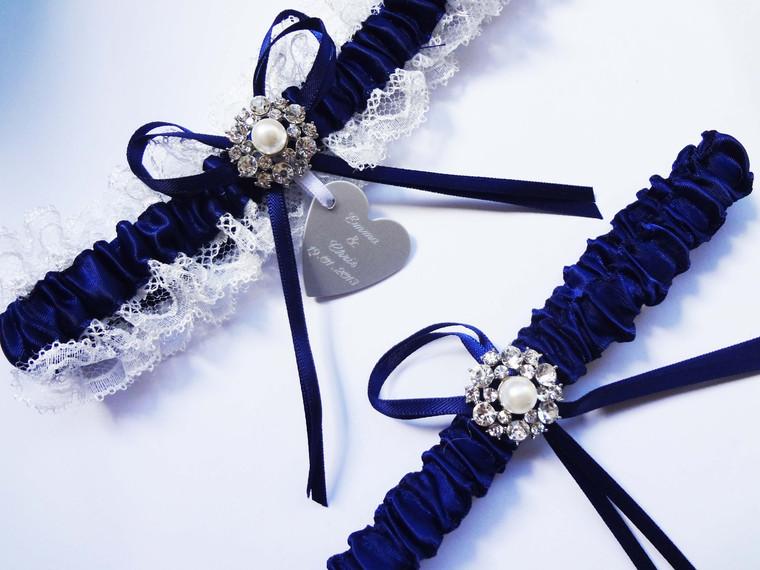 Personalised Garter set - Misty design