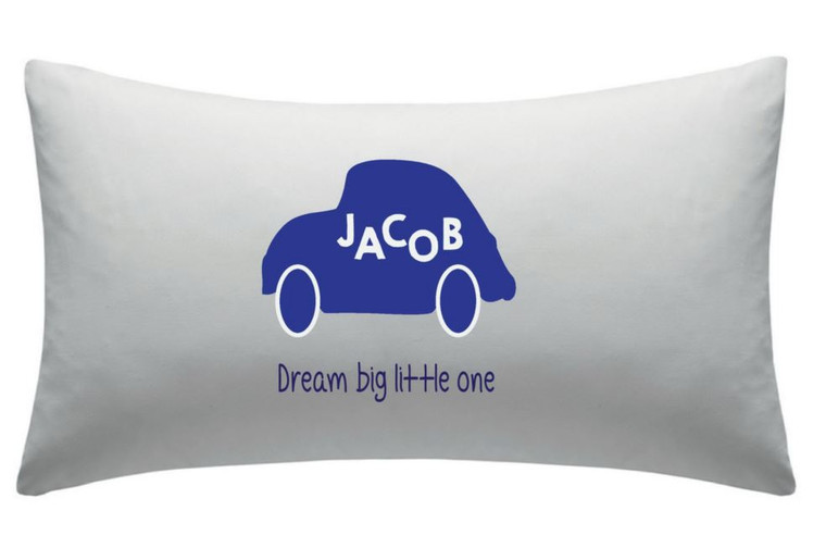 Personalised Children's Car Pillow Case