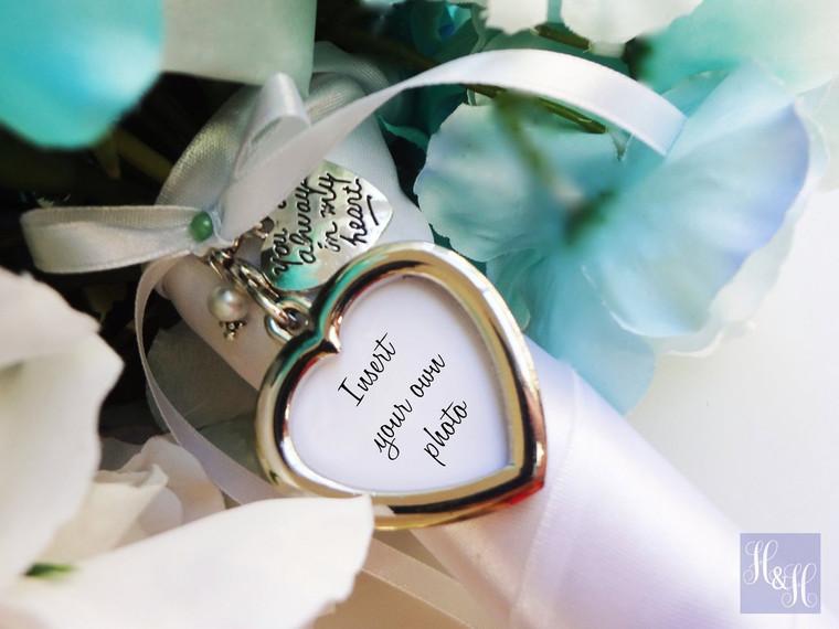 Bouquet Charm - DIY Heart (Silver) - Majory Design