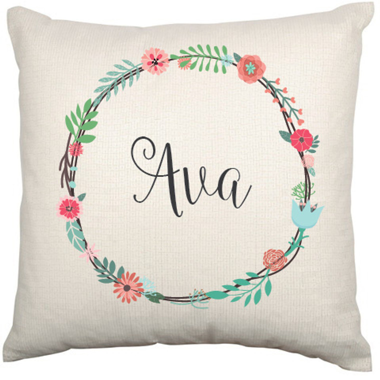 Personalised Nursery Cushion Cover (Ava design)