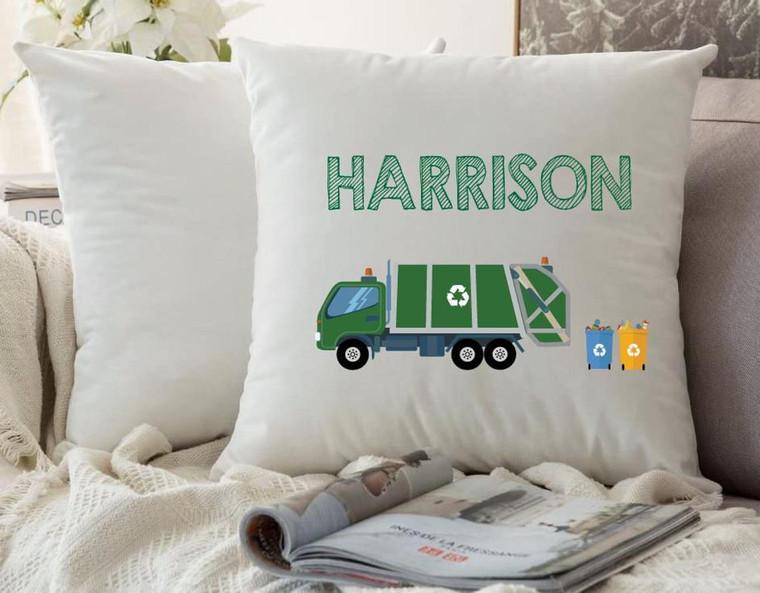 Personalised Nursery Cushion Cover (Garbage Truck)