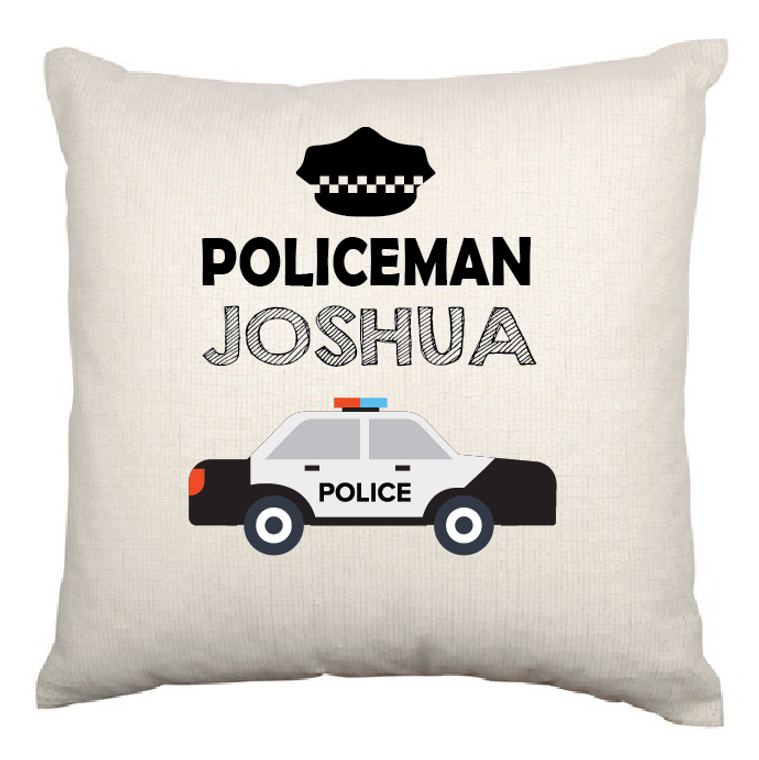 Copy of Personalised Nursery Cushion Cover (Police)