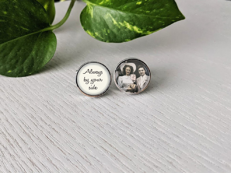 Personalised Father of the Bride/Groom Cuff Links - Charlie Design