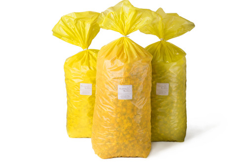 Purchase  Movie Theater, Sweet N Salty, Cheddar, & Caramel Bulk Popcorn. Each Bag is 4 gallons.