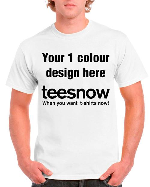 9c07e6bde Black cotton t-shirt 1 colour custom screen printing cheap free delivery