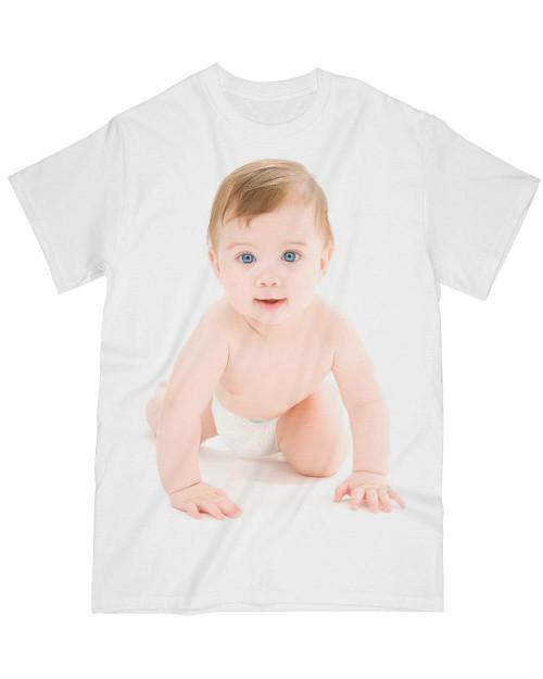 White t-shirt, baby custom t shirt printing