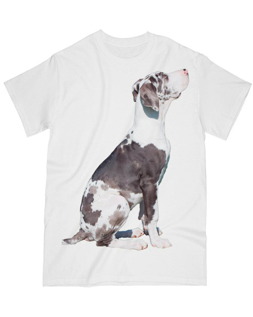 White t-shirt , dog t shirt printing