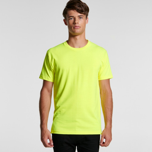 AScolour Mens Block Tee (Safety Colours) - 5050F Front