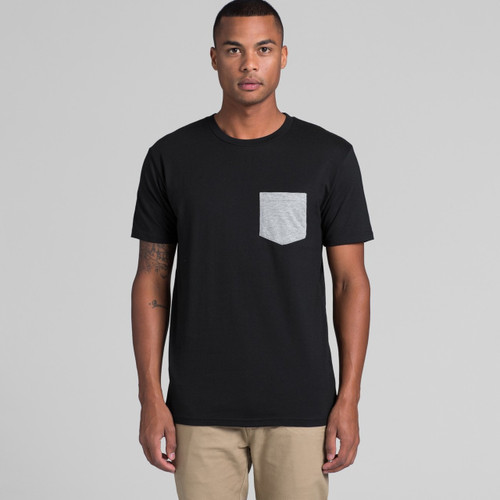 AScolour Mens Staple Pocket Tee - 5010 Front