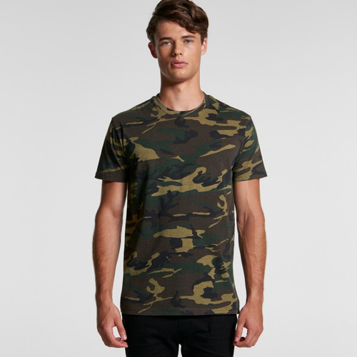 Ascolour Mens Staple Camo Tee - 5001C Front