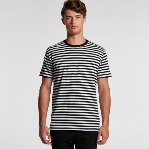 Ascolour Mens Staple Stripe Tee - 5028 Front