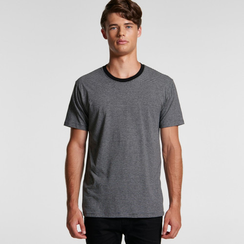 Ascolour Mens Line Stripe Tee - 5042 Front