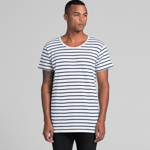 Ascolour Mens Wire Stripe Tee - 5024 Front