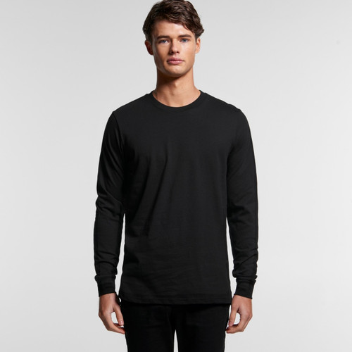 Ascolour Mens Base Organic L/S Tee - 5029g Front
