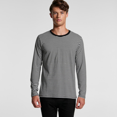 Ascolour Mens Bowery Stripe L/S Tee - 5061Front