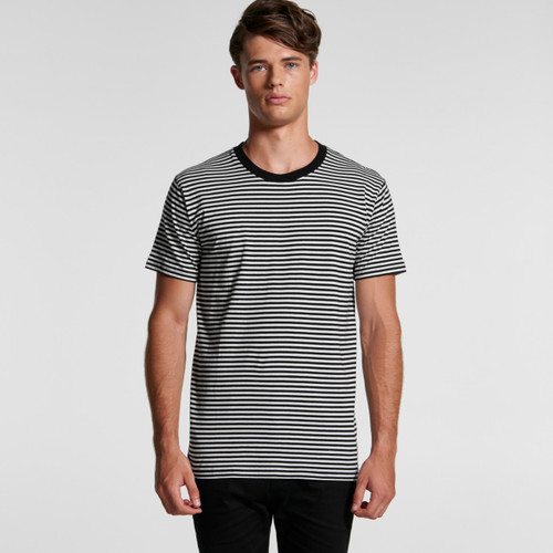 AScolour Mens Bowery Stripe Tee - 5060 Front