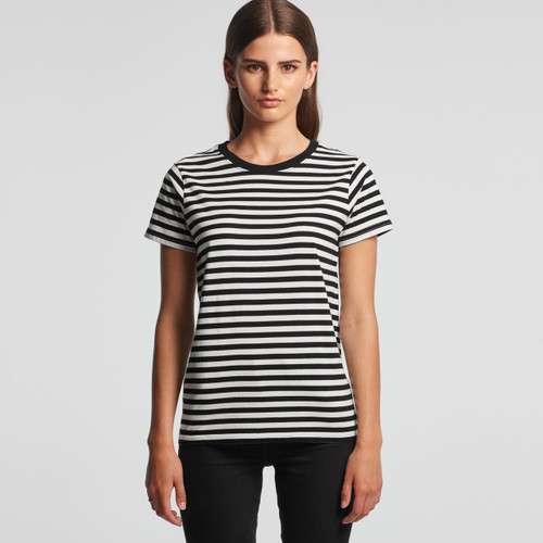 Ascolour Wo's Maple Stripe Tee - 4037 Front