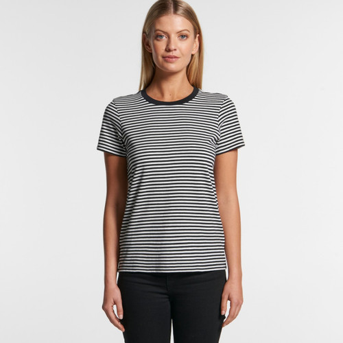 Ascolour Wo's Bowery Stripe Tee - 4060 Front