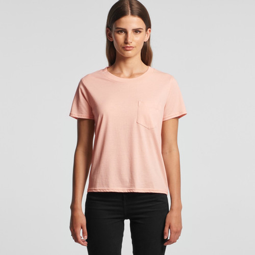 Ascolour Wo's Square Pocket Tee - 4046 Front