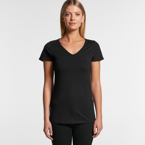 Ascolour Wo's Bevel V-Neck Tee - 4010 Front