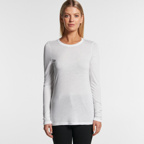Ascolour Wo's Fine Long Sleeve Tee - 4026 Front